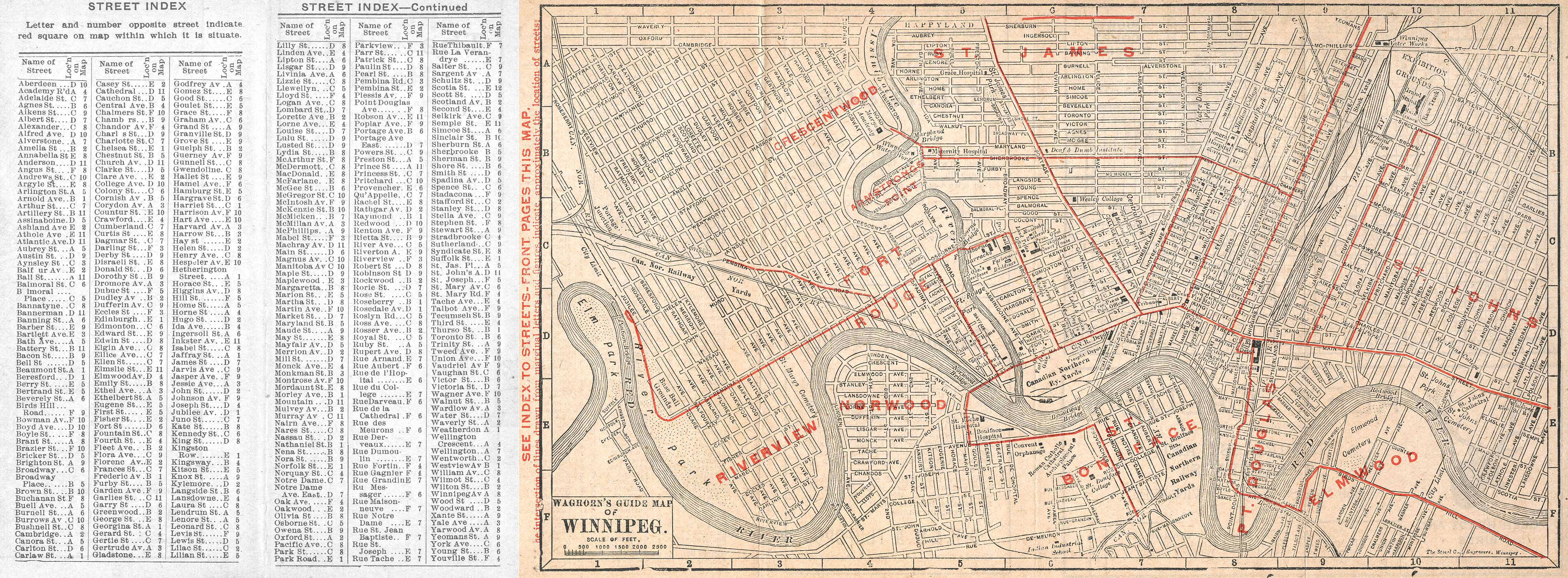 MHS Resources Winnipeg Streets in the 1911 Canada Census