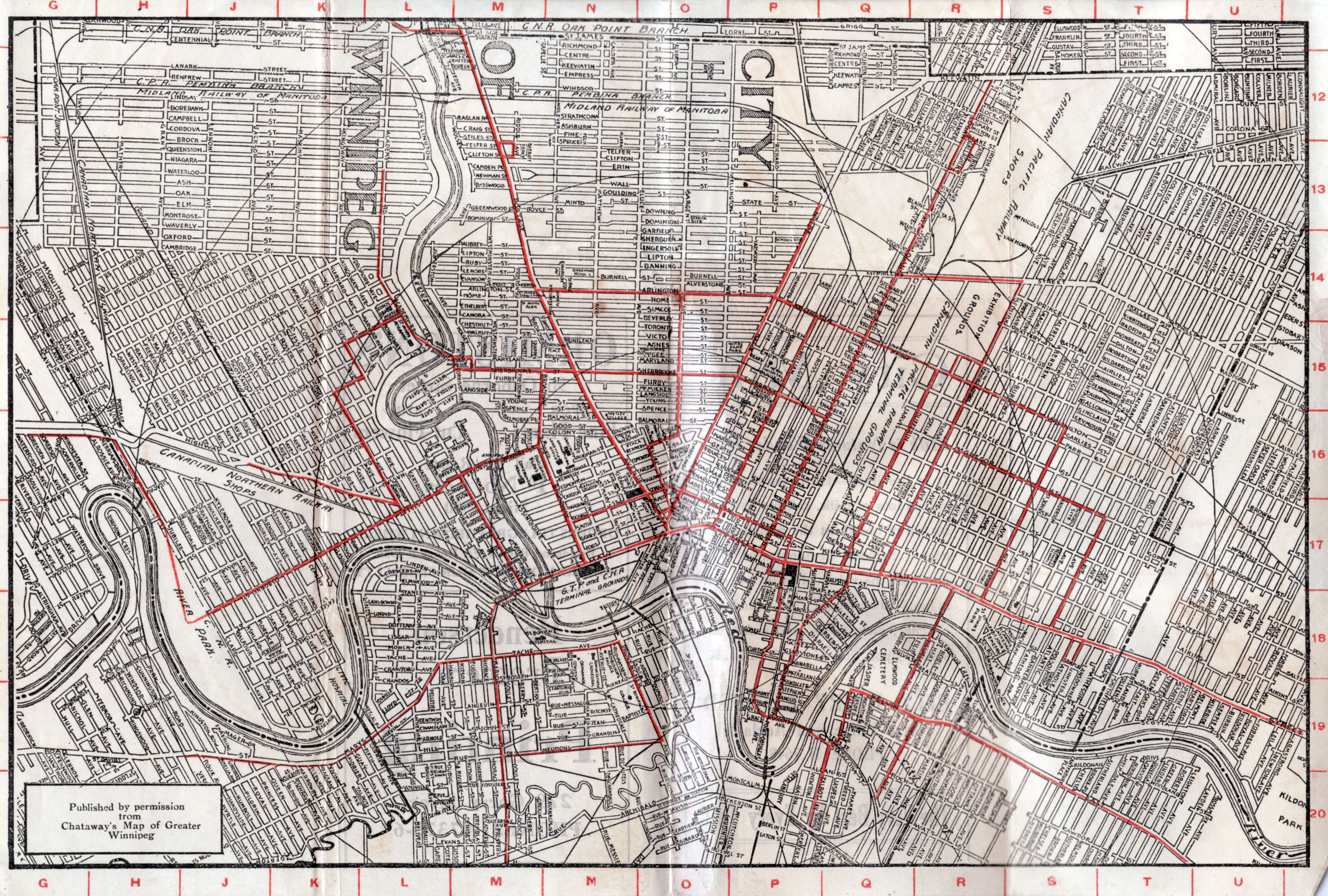 MHS Resources Winnipeg Streets In The Canada Census - Vintage maps melbourne