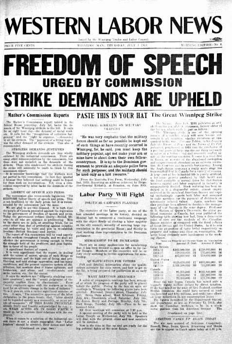 Timelinks Western Labour News 3 July 1919