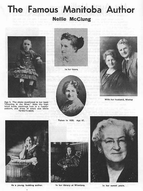 essays about nellie mcclung The efforts of five women known as the famous five has had a lasting effect on the rights of women in canada to this day these women, all from alberta, were emily murphy, nellie mcclung, louise mckinney, irene parlby and henrietta muir edwards.