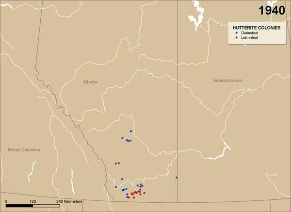 Manitoba History: Mapping Hutterite Colony Diffusion in