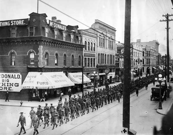 Military Parade on Rosser Avenue