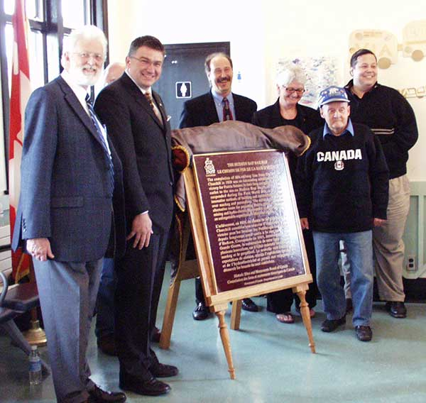 A plaque commemorating the Hudson Bay Railway was unveiled at the VIA Rail Station in The Pas, by the Historic Sites and Monuments Board of Canada on 21 September 2007.