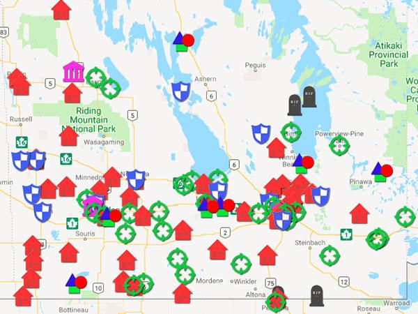 Historic Sites of Manitoba: Abandoned Manitoba