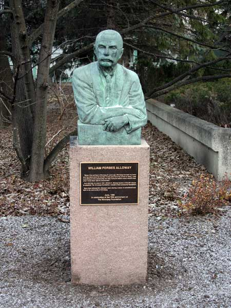 Historic Sites Of Manitoba William Forbes Alloway Statue