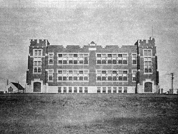 The Centennial School building prior to an addition
