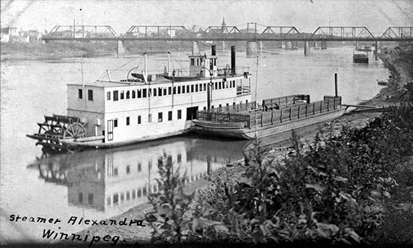 The steamship Alexandra with the Canadian Northern Railway Main Line Bridge in the background
