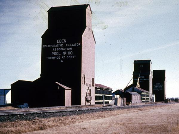 Historic Sites Of Manitoba Manitoba Pool Grain Elevator A Eden - Us grain elevator map