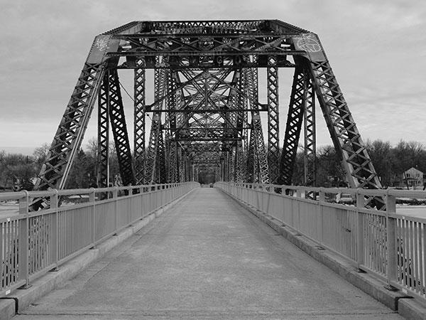 historic sites of manitoba elm park steel through truss bridge red
