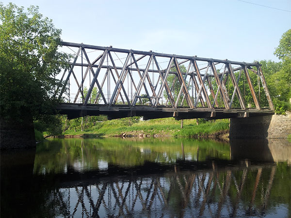 Historic Sites Of Manitoba Timber Through Truss Bridge Roseau