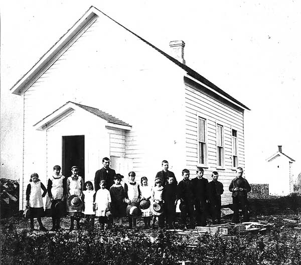 The original Gretna School building