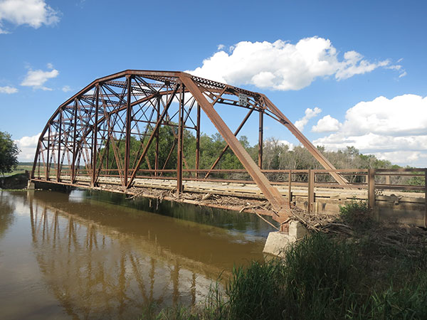 Harrison steel truss bridge over the Assiniboine River