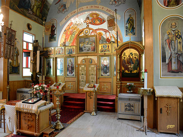 Interior of the Holy Trinity Russian Greek Orthodox Cathedral