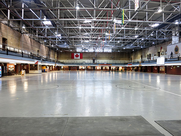 Parade floor inside the Minto Armoury