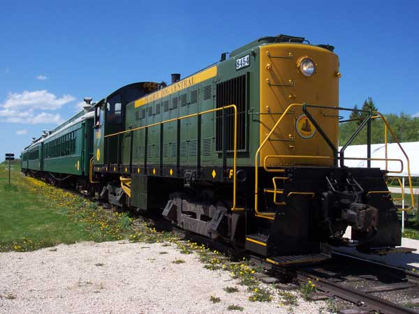 Prairie Dog Central diesel-powered locomotive