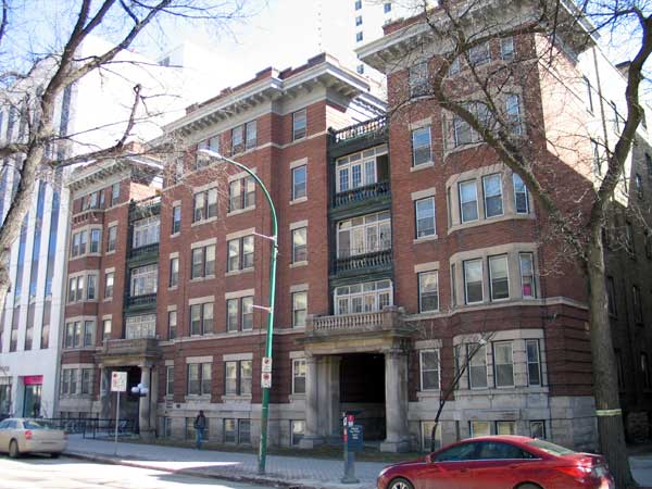 Historic Sites Of Manitoba: Princeton Apartments / Kenmore Apartments (314  Broadway, Winnipeg)
