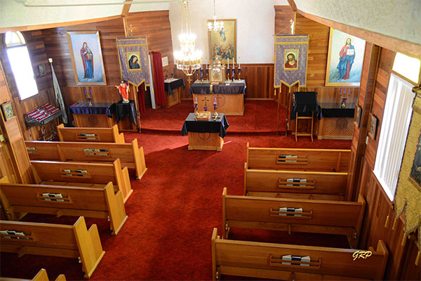Interior of the Ascension of Our Lord Ukrainian Catholic Church