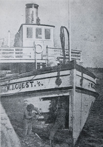 W. J. Guest being repaired at Selkirk following the October 1923 crash
